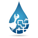 Repair plumbing design. For business, vector stock illustration