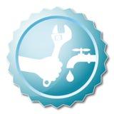 Repair plumbing design vector Royalty Free Stock Photos