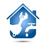 Repair plumbing home Stock Images