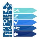 Repair of plumbing and plumbing symbol Royalty Free Stock Photography