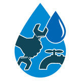Repair plumbing and water supply systems Royalty Free Stock Photography