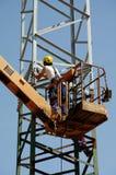 Repair pylons high voltage Stock Photos