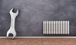 Repair of radiator Royalty Free Stock Photo