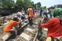 Repair railway lines Royalty Free Stock Images