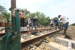Repair railway lines Stock Photography