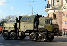 Repair and recovery vehicle wheeled light REM-KL in preparation for the Victory parade. Stock Image