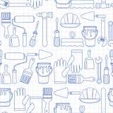 Repair and renovation tools Hand drawn vector icons royalty free illustration