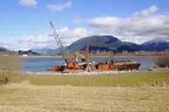 Repair River Bank Royalty Free Stock Images