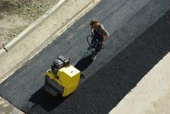 Repair of  road covering Stock Photo