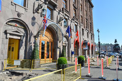 Repair of road pavements near the hotel Astoria in Saint Petersb Stock Photography