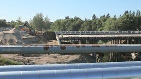 Repair of roads and bridges stock video