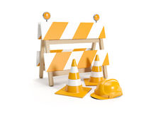 Repair roads, replacing the road. signs Stock Photography