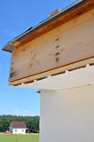 Repair roof eaves. Install soffits. Roofing. Royalty Free Stock Photography