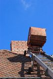 Repair a roof Stock Photos