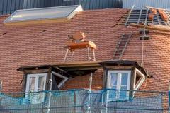 Repair a roof Stock Photo