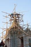 Repair roof of temple Stock Photo
