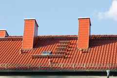 Repair a roof - Repaired roof Royalty Free Stock Photography