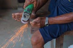 Repair saw blade Stock Photo