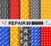 Repair, 10 seamless patterns Royalty Free Stock Photography