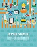 Repair service concept design flat.lorem ipsum is simply text. Vector illustration stock illustration