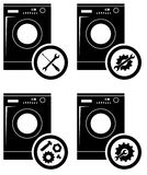 Repair Service Concept. Simple Icons Set: Wrench, Screwdriver, Hammer And Gear. Mending Of Refrigerators. Vector Royalty Free Stock Photos