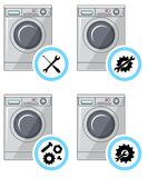 Repair Service Concept. Simple Icons Set: Wrench, Screwdriver, Hammer And Gear. Mending Of Refrigerators. Vector Illustration. Stock Photo