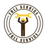 Repair service design Stock Images