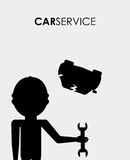 Repair service. Design, vector illustration eps10 graphic Stock Images