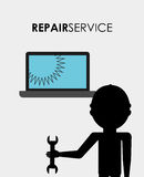 Repair service design. Vector illustration eps10 graphic Royalty Free Stock Images