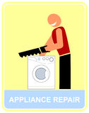 Repair and service of household appliance Stock Images