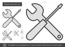 Repair service line icon. Stock Image