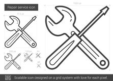 Repair service line icon. Royalty Free Stock Images