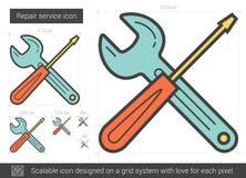 Repair service line icon. Royalty Free Stock Photos