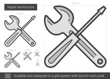 Repair service line icon. Royalty Free Stock Image