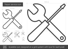Repair service line icon. Royalty Free Stock Photography