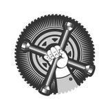 Repair service logo Royalty Free Stock Image