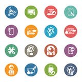Repair Service and Maintenance Icons Set. Royalty Free Stock Photography