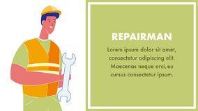 Repair Services Web Banner Layout with Text Space stock illustration