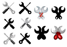 Repair or settings icons Stock Image
