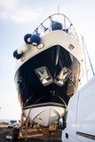 Repair of a  ship in dry dock, Cyprus Stock Photography