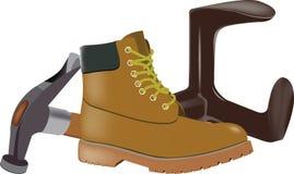Repair shoes Stock Images