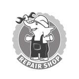 Repair shop emblem Stock Photo