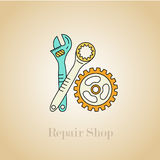 Repair shop icon. Auto parts and accessories. Royalty Free Stock Image