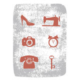 Repair shop icons vector set Royalty Free Stock Images