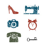 Repair shop pictograms Vector set Royalty Free Stock Photography