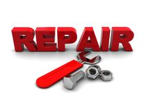 Repair sign Stock Images