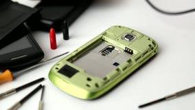 Repair smartphone # 3 stock video
