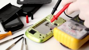 Repair smartphone # 4 stock video