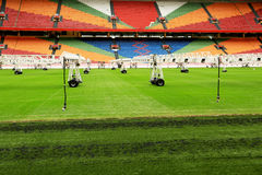 Repair soccer fields Royalty Free Stock Images
