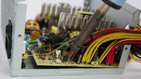 Repair soldering power supply Stock Photography
